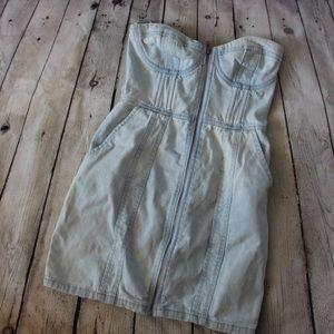 Jean mini dress